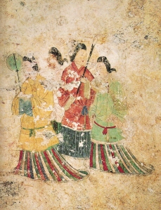 Mural on one of the interior walls of the Takamatsu Zuka Kofun