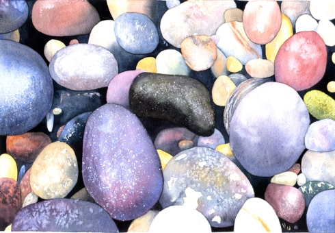 Pinkish Pebbles by Jane Tomlinson