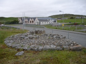 A cairn near the famous Callanish on the Isle of Lewis – cut in half by a road.