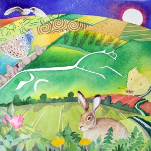 Painting of the White Horse, bu Heritage Action member, Jane Tomlinson. See http://www.janetomlinson.com for more of her work.