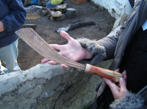 Making axes at Flag Fen, Peterborough