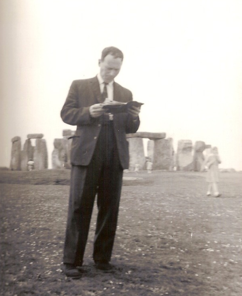 Mr Connor at Stonehenge,  early-mid 1960's.