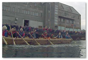 The Falmouth Logboat in action!