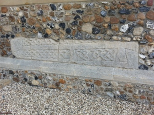Another stone in the porch at Little Shelford Church