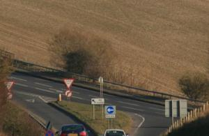 No more... (The junction of the A344 with the A303 as it was yesterday evening)