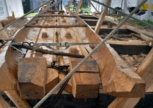 The Dover Boat Reconstruction in progress