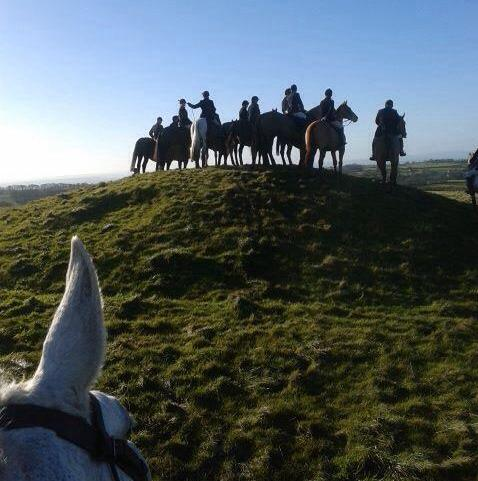 Mrs Leadsom's post-Brexit vision of Britain: fox hunters trampling a scheduled monument without sanction and artefact hunters helping themselves to hidden archaeology - with encouragement!