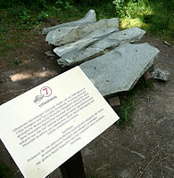 A Lithophone made of Phonolite in the botanic garden in Schellerhau (Germany) - Creative Commons