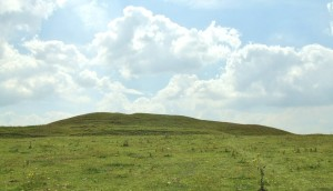 View of Adam's Grave long barrow from the north.