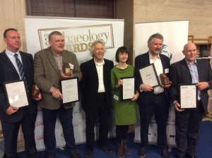 The award winners, with Julian Richards