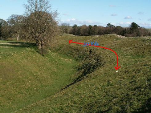 The fifty yard downward spiral: first Priddy, where the culprit was fined a fraction of the value of one of his string of racehorses, then Offa's, where the perpetrator was fined nothing ... next, Avebury, above? Will they be given a lottery grant?