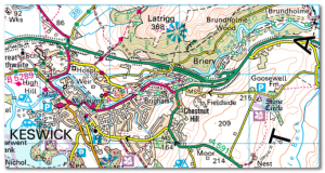 Map courtesy of  Ordnance Survey - Get-a-Map service