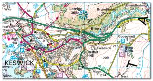 Map courtesy of  Ordnance Survey - Get-a-Map service