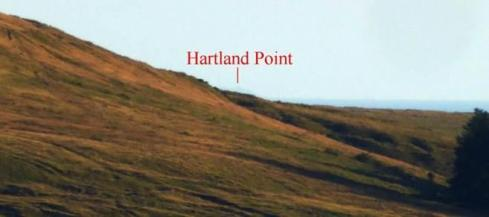 9. After 300m Hartland Point is disappearing back behind Tor Clawdd. From this point onwards the focus of the row is no longer on Devon.