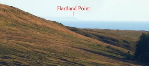 2. Hartland Point is clearly visible from this point on the alignment.