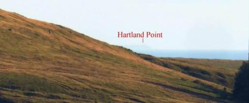 5. As one continues to walk down the stone alignment the view to Hartland Point is maintained.