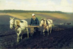 Tolstoy ploughing