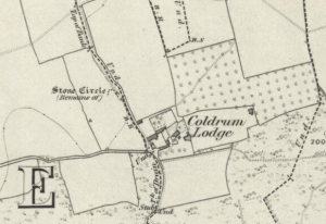 Coldrum Lodge, snipped from Kent Sheet XXX 1870