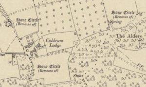 Coldrum Lodge,snipped from OS Kent Sheet XXX.NE 1909