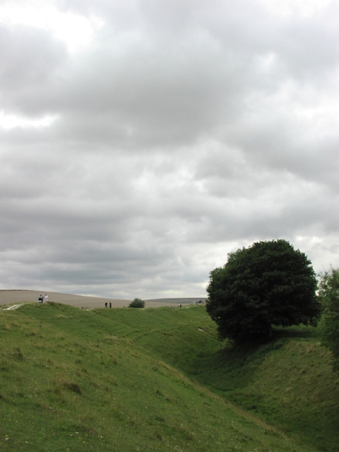 Bank and Ditch at Avebury, © Rebecca van der Putt, RIP.