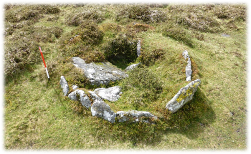 The Money Pit Cairn would have originally formed the upper end of the row.