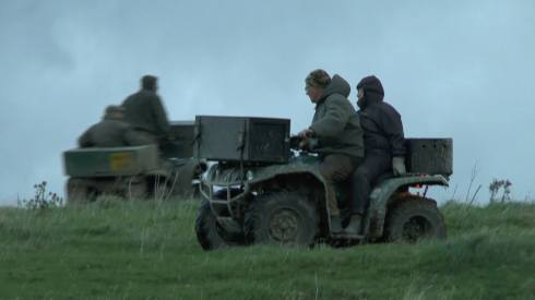 Portman Hunt on quad bikes on Hambledon Hill - Credit: Dorset Hunt Sabs