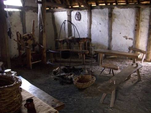 Anglo-Saxon hall, interior, Bede's World