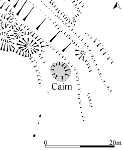 Plan of cairn at head of alignment