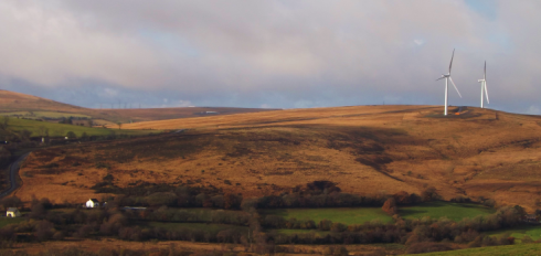 The south eastern slope of Bancbryn. View from east. (Source: DSCF 1066)