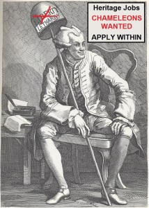 "Hogarth's mocking caricature of John Wilkes who ""went too far and criticized the King directly"". A warning to others of similar mind?"