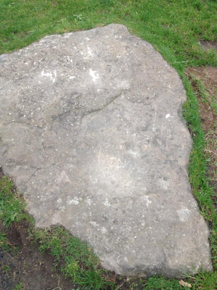 May 2016 damage to a stone at Nine Ladies - Credit: Emma Gordon