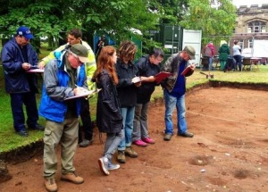 Here are volunteers in 2013 at an official dig in Kidderminster ....