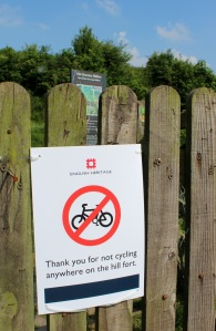 Push-bikes are prohibited as a new safeguard against damage to the 3000-year-old monument which is known as 'The Stonehenge of the Iron Age'.