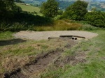 Shropshire County Council conservation works to the Dyke and National Trail at a site called 'Scotland' in the Shropshire Hills AONB to rectify a drainage issue. (Photo copyright Andrew Lipa, Shropshire County Council.