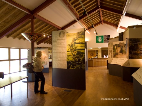 View of the display in the Offa's Dyke Centre (Photo copyright Jim Saunders).