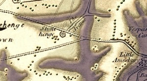 Map of 1817 showing our beloved A303